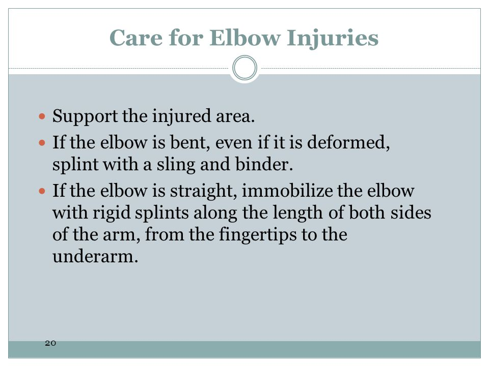 Care for Elbow Injuries