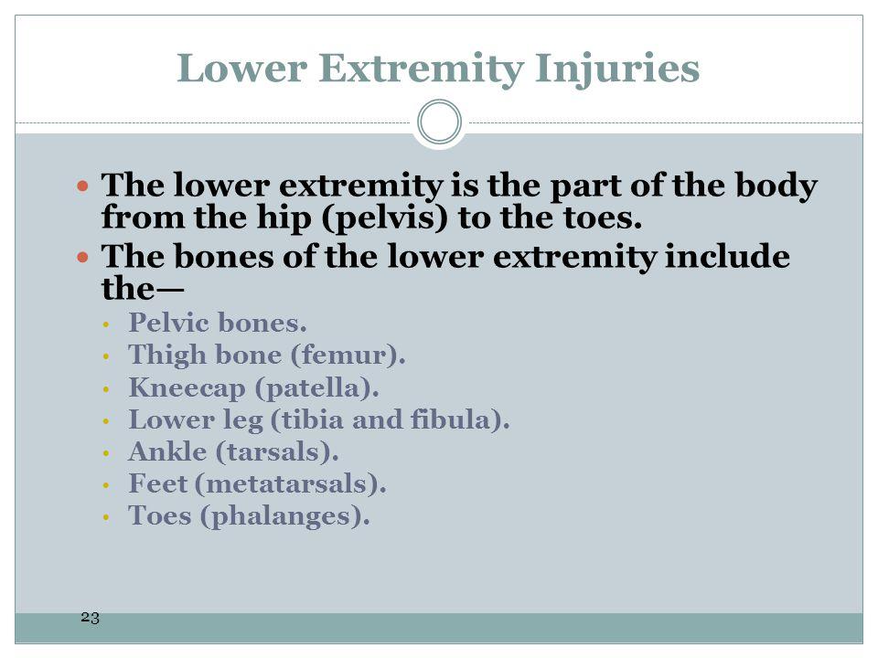 Lower Extremity Injuries
