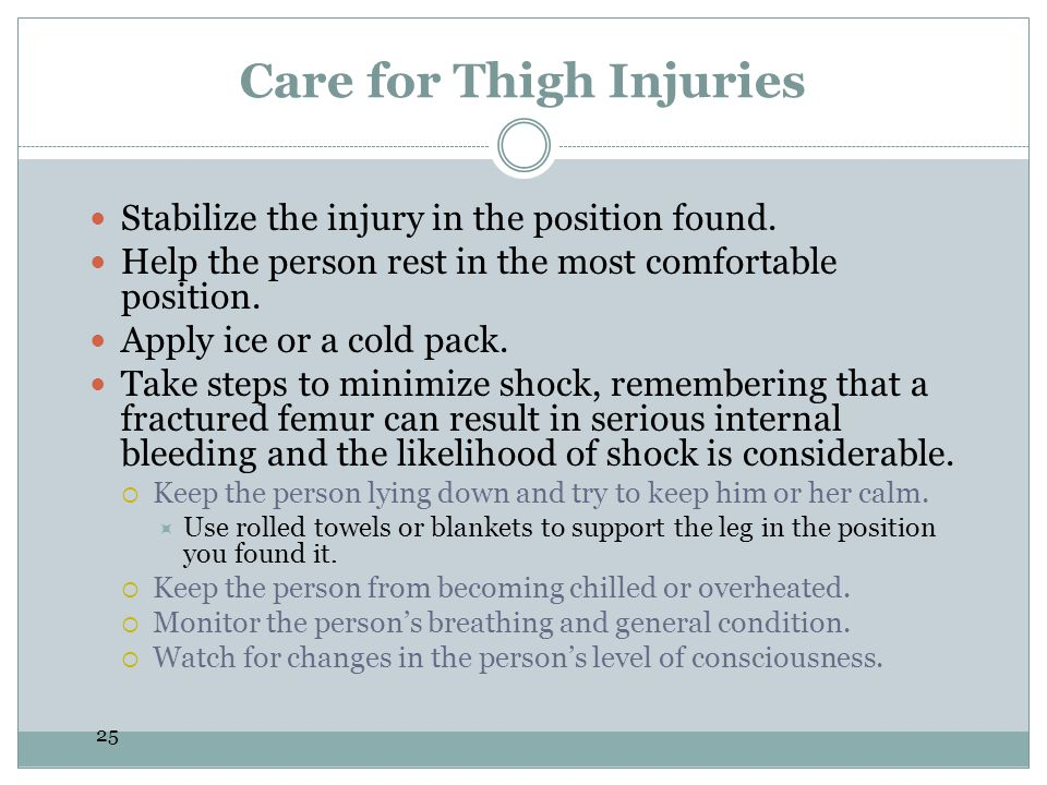 Care for Thigh Injuries
