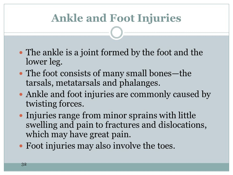 Ankle and Foot Injuries