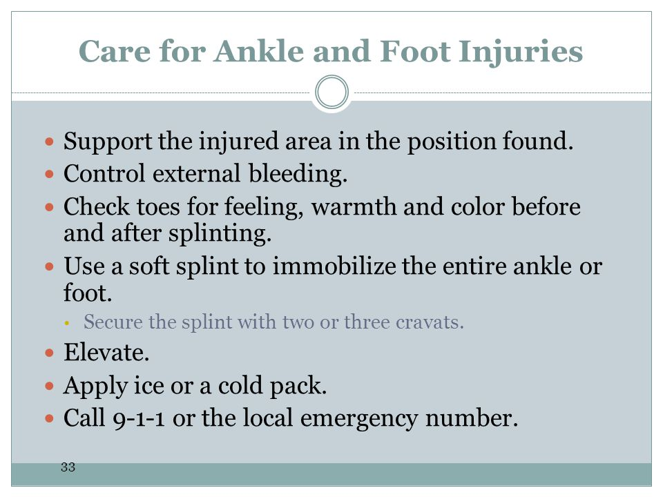 Care for Ankle and Foot Injuries