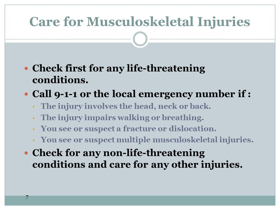 Care for Musculoskeletal Injuries