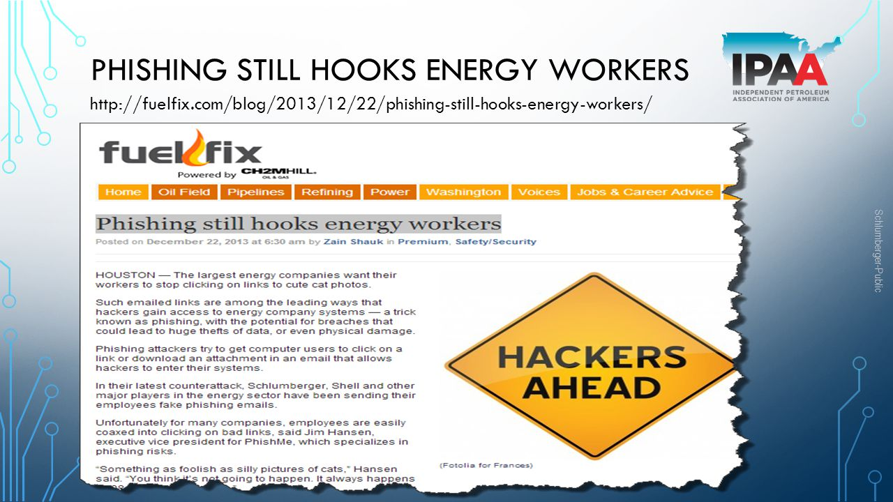 Phishing still hooks energy workers