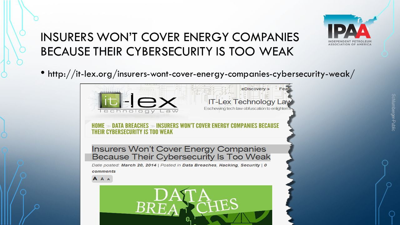 Insurers Won't Cover Energy Companies Because Their Cybersecurity Is Too Weak