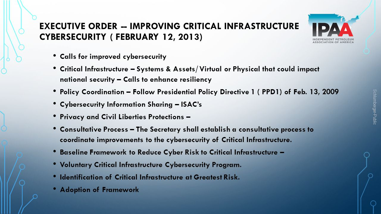 Executive Order -- Improving Critical Infrastructure Cybersecurity ( February 12, 2013)