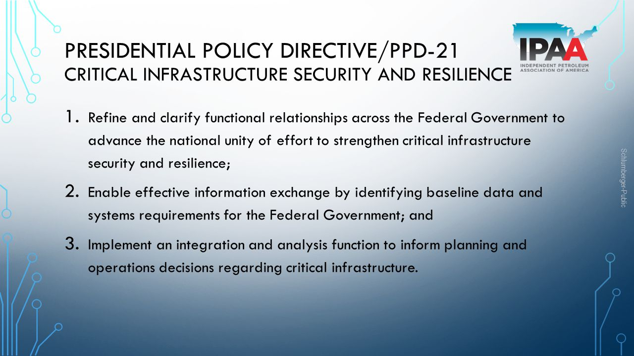 PRESIDENTIAL POLICY DIRECTIVE/PPD-21 Critical Infrastructure Security and Resilience