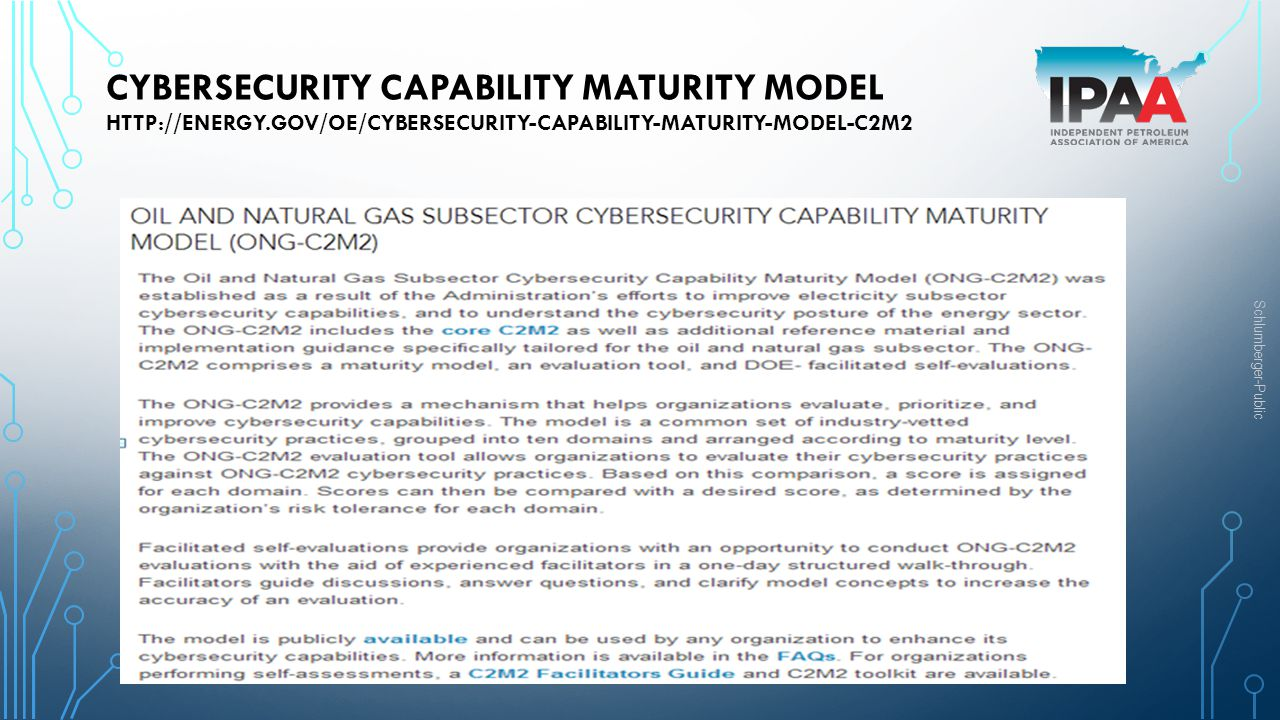Cybersecurity Capability Maturity Model http://energy