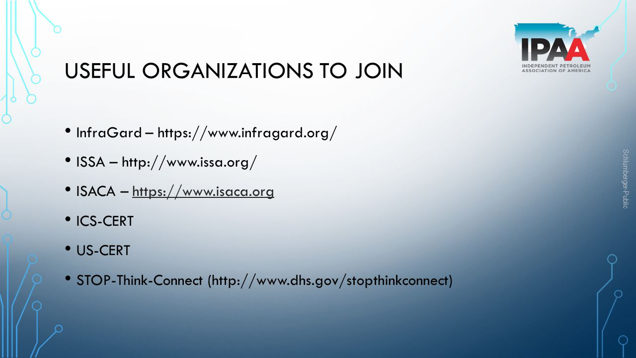Useful Organizations to join