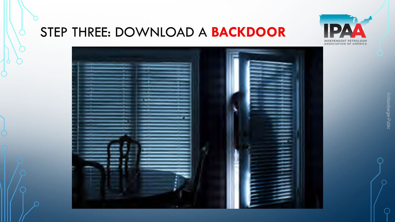 Step three: download a backdoor