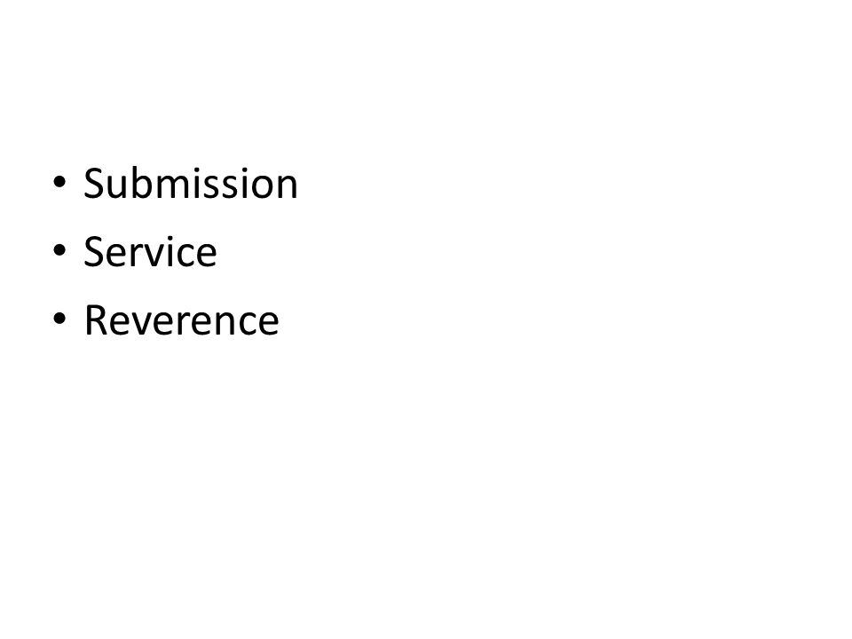 Submission Service Reverence