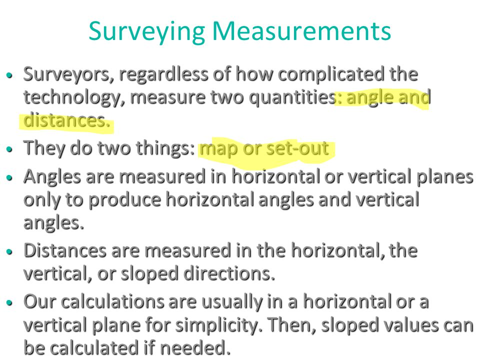 Surveying Measurements