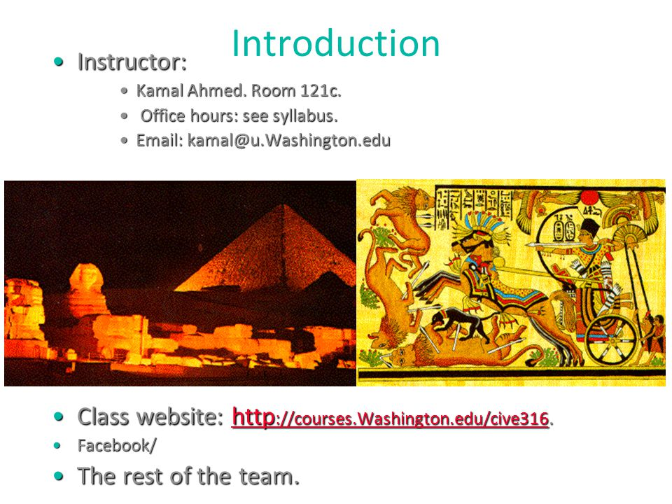 Introduction Instructor: