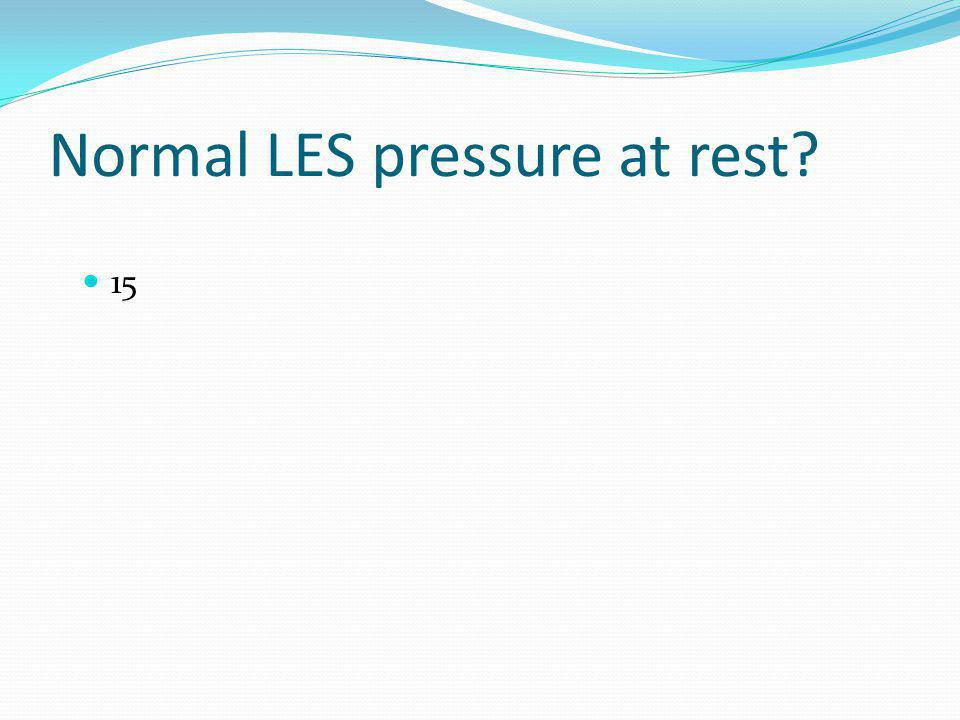 Normal LES pressure at rest