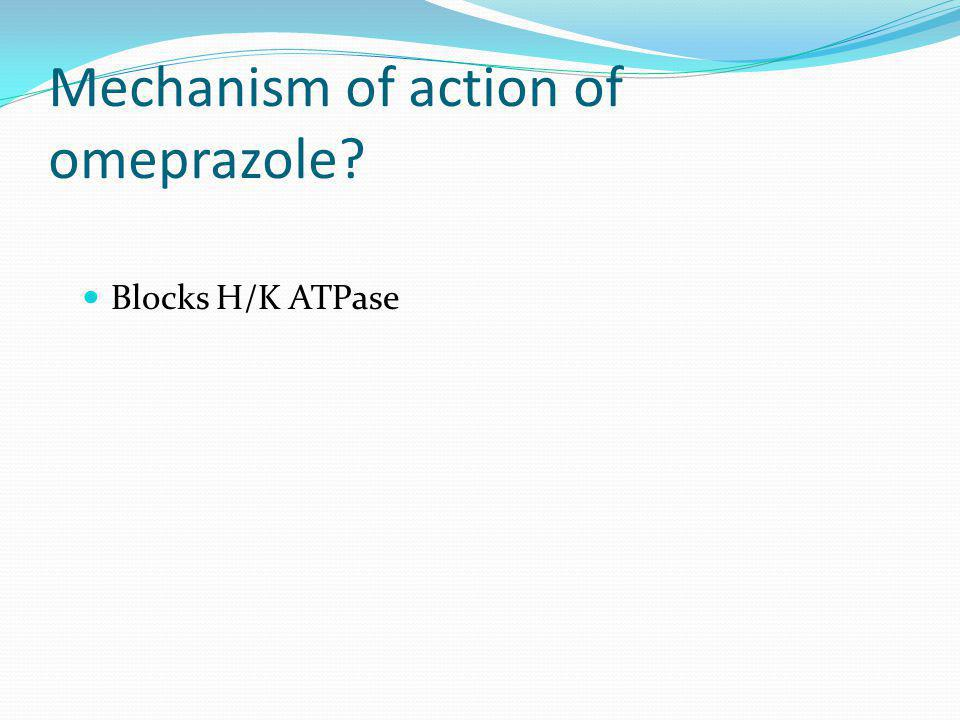 Mechanism of action of omeprazole