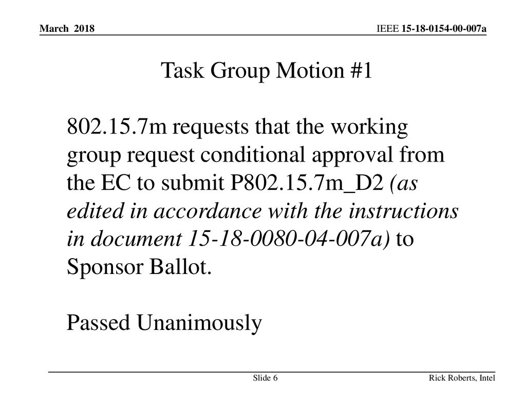 March 2018 Task Group Motion #1.