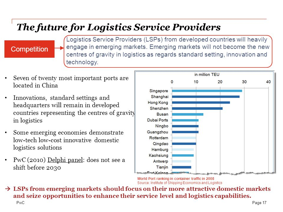 The future for Logistics Service Providers