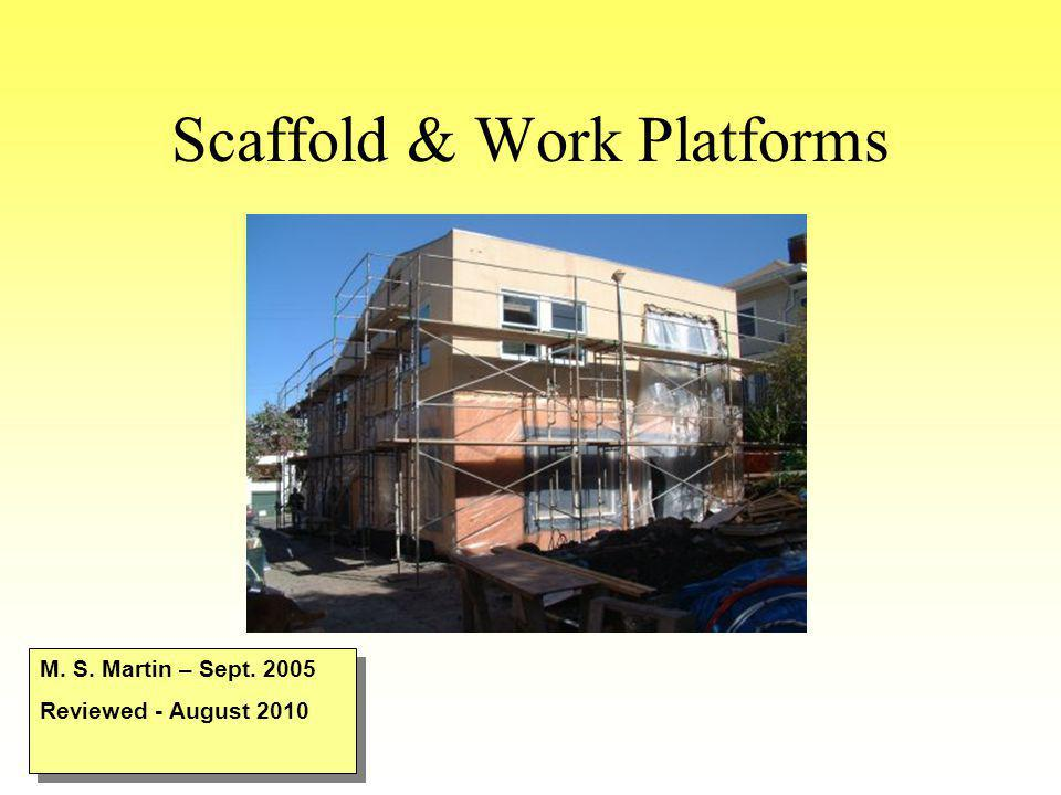 Scaffold & Work Platforms