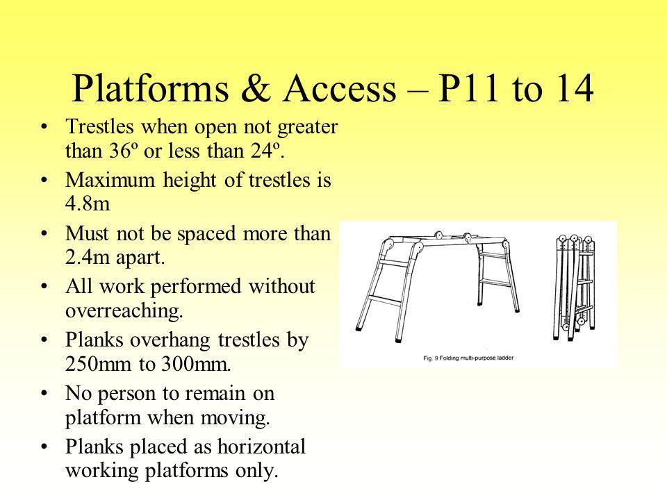 Platforms & Access – P11 to 14