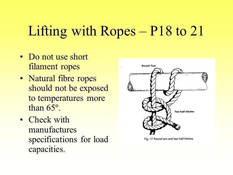 Lifting with Ropes – P18 to 21