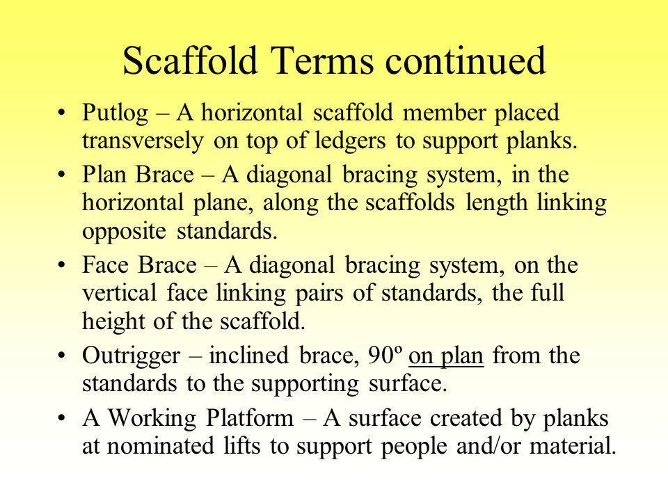 Scaffold Terms continued