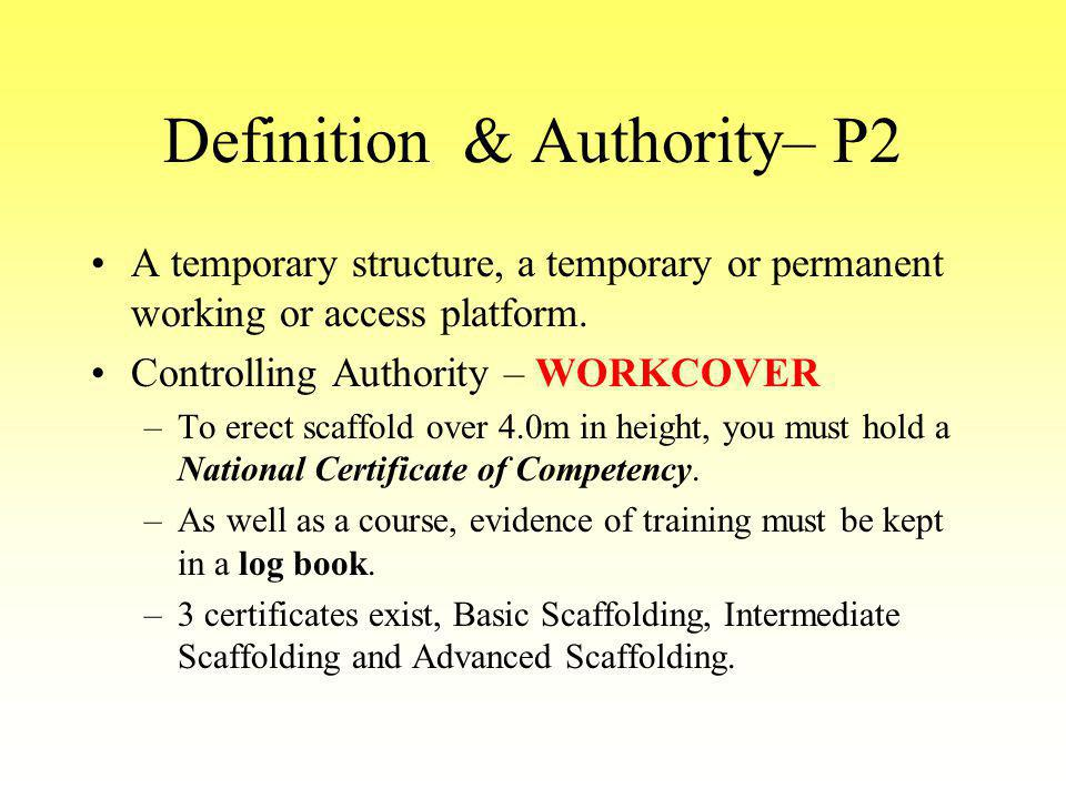 Definition & Authority– P2