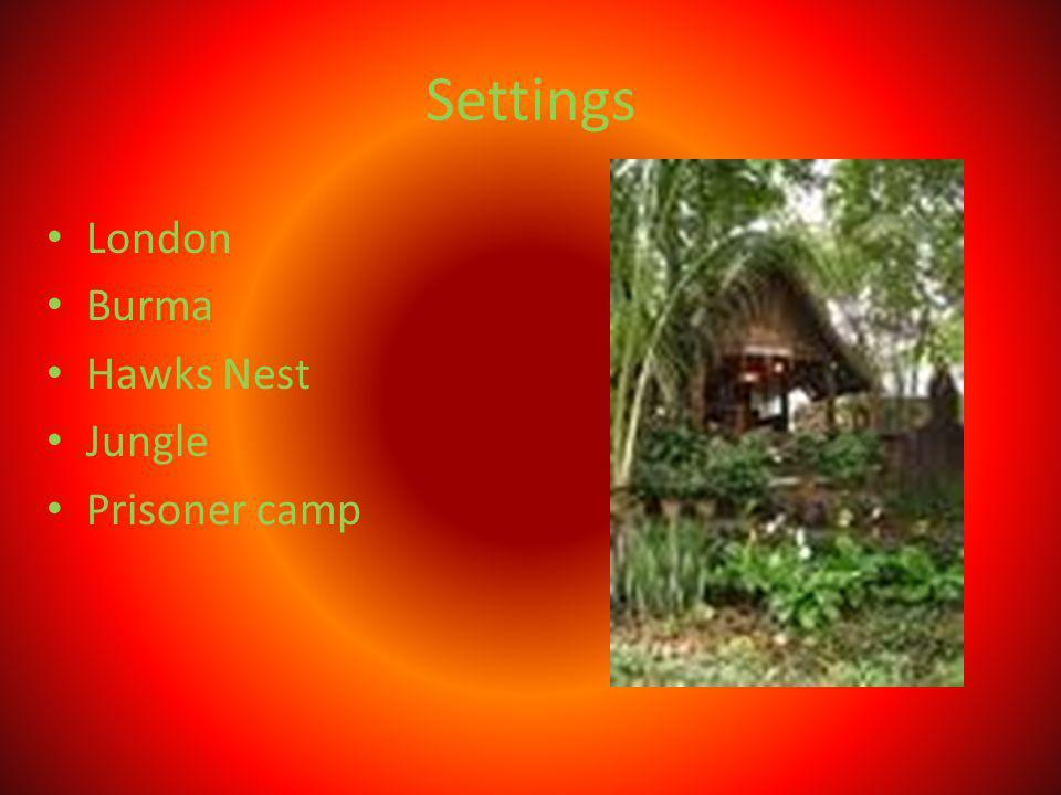 Settings London Burma Hawks Nest Jungle Prisoner camp