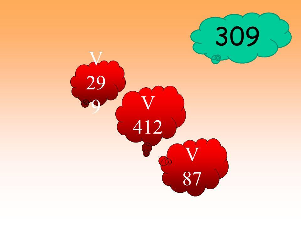 309 V 299 V 412 V 87