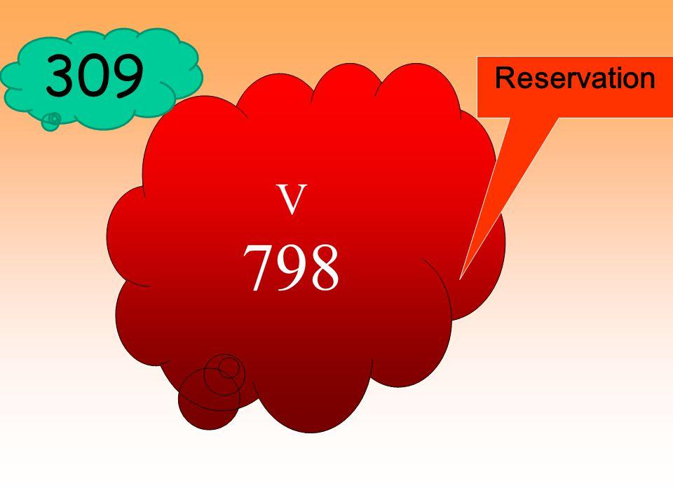 309 Reservation V 798