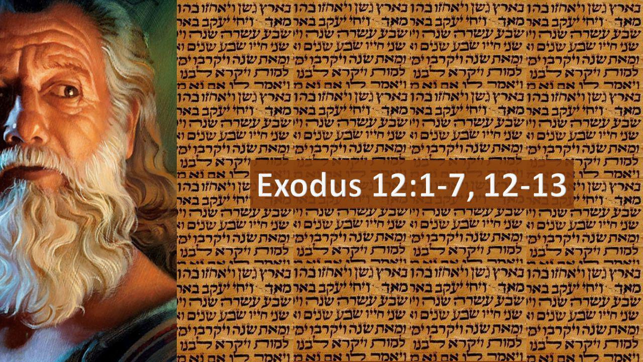 Exodus 12:1-7, 12-13