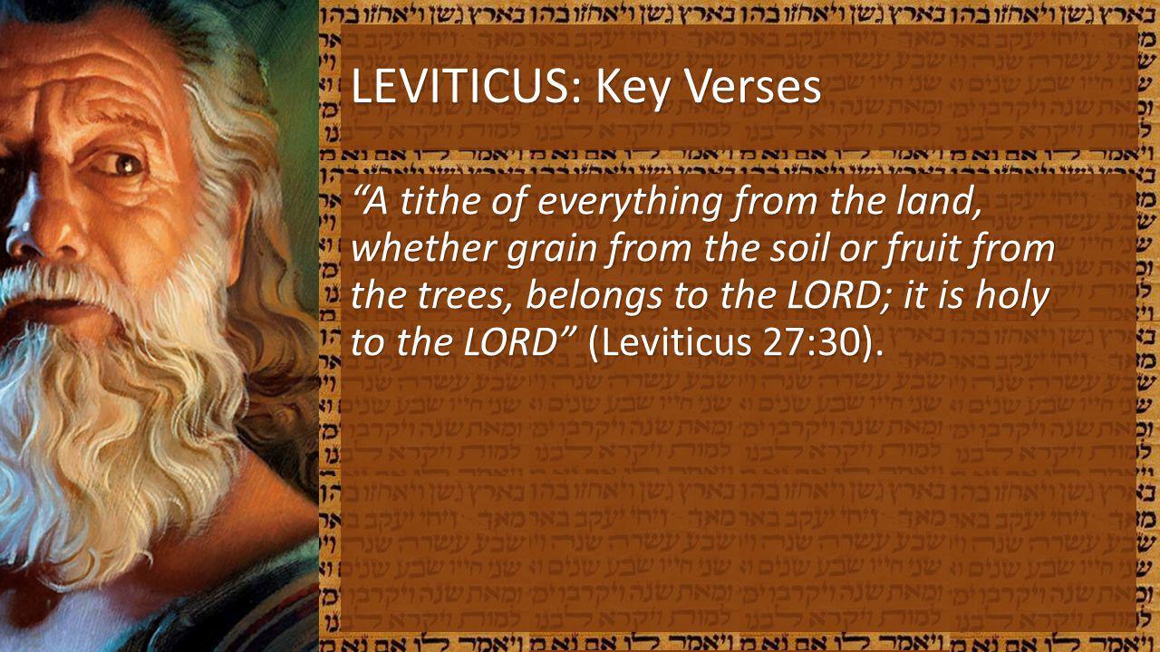 LEVITICUS: Key Verses
