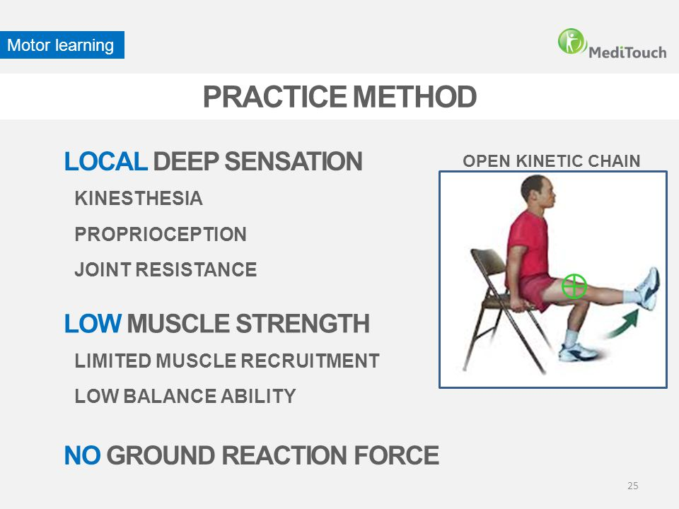 PRACTICE METHOD LOCAL DEEP SENSATION LOW MUSCLE STRENGTH