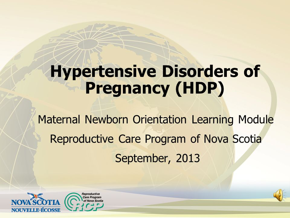 Hypertensive Disorders of Pregnancy (HDP)