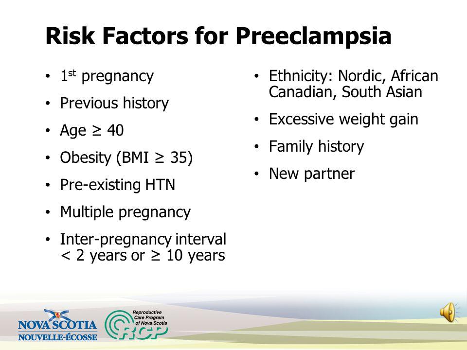 Risk Factors for Preeclampsia