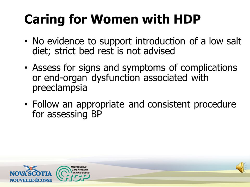 Caring for Women with HDP