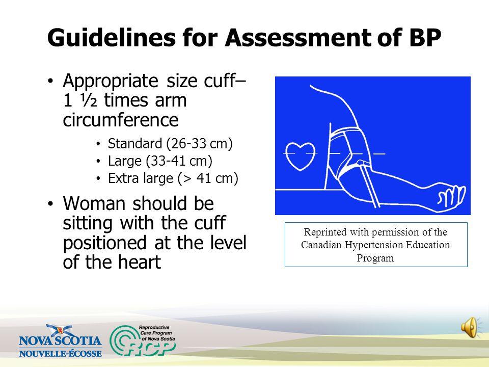 Guidelines for Assessment of BP