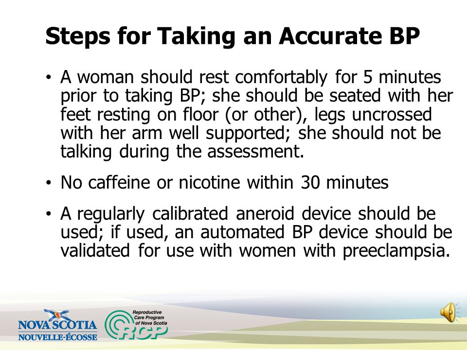 Steps for Taking an Accurate BP
