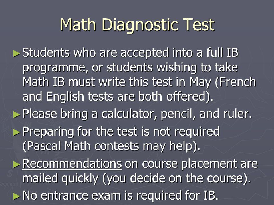 Math Diagnostic Test