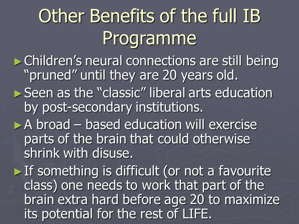 Other Benefits of the full IB Programme
