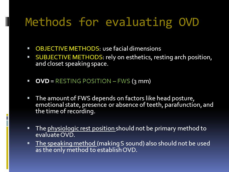 Methods for evaluating OVD