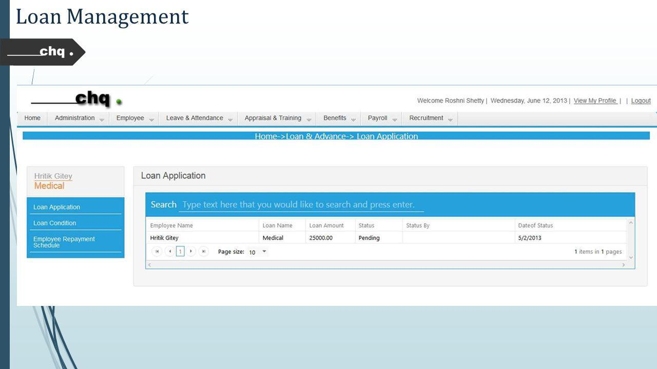 Loan Management