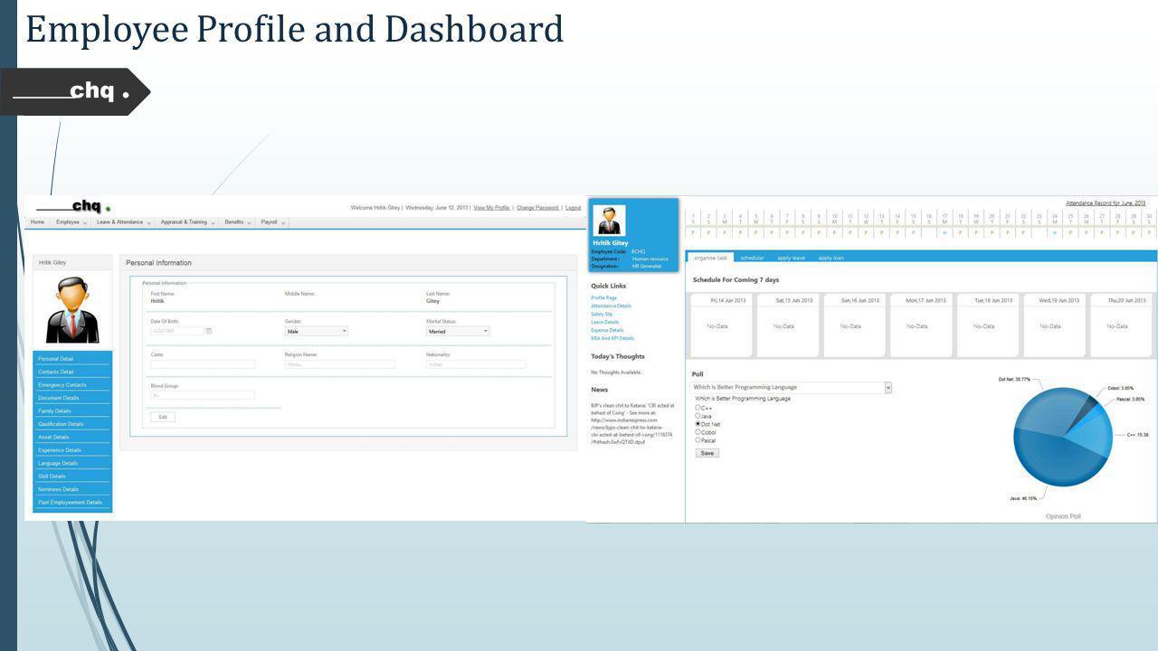 Employee Profile and Dashboard