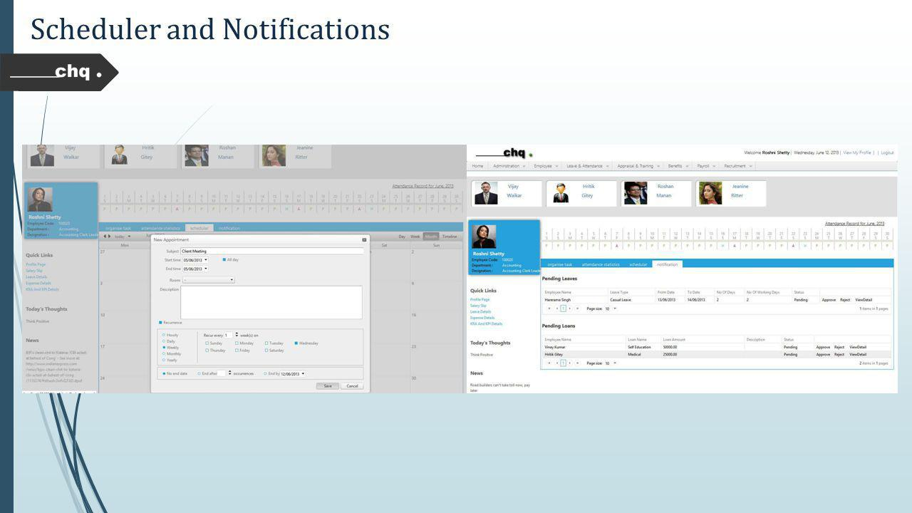 Scheduler and Notifications