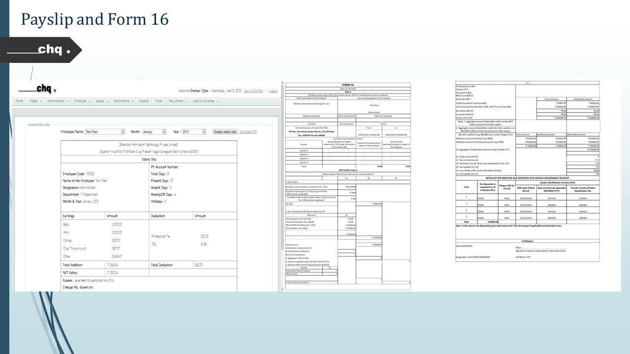 Payslip and Form 16