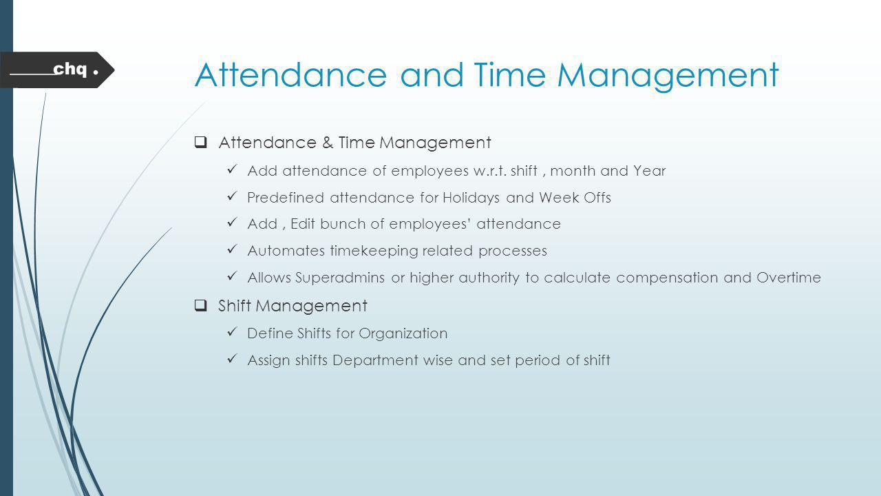 Attendance and Time Management