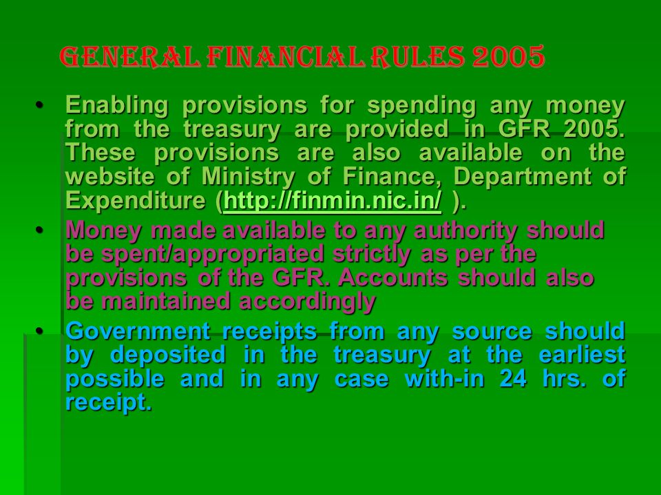 General Financial Rules 2005