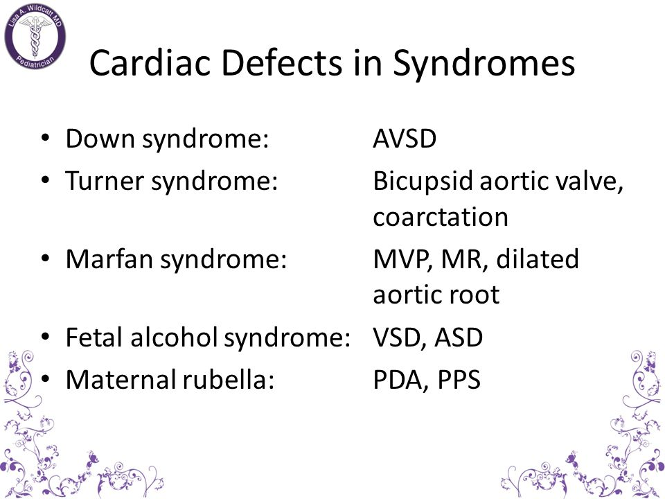 Cardiac Defects in Syndromes