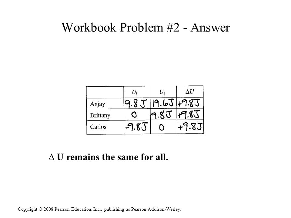 Workbook Problem #2 - Answer