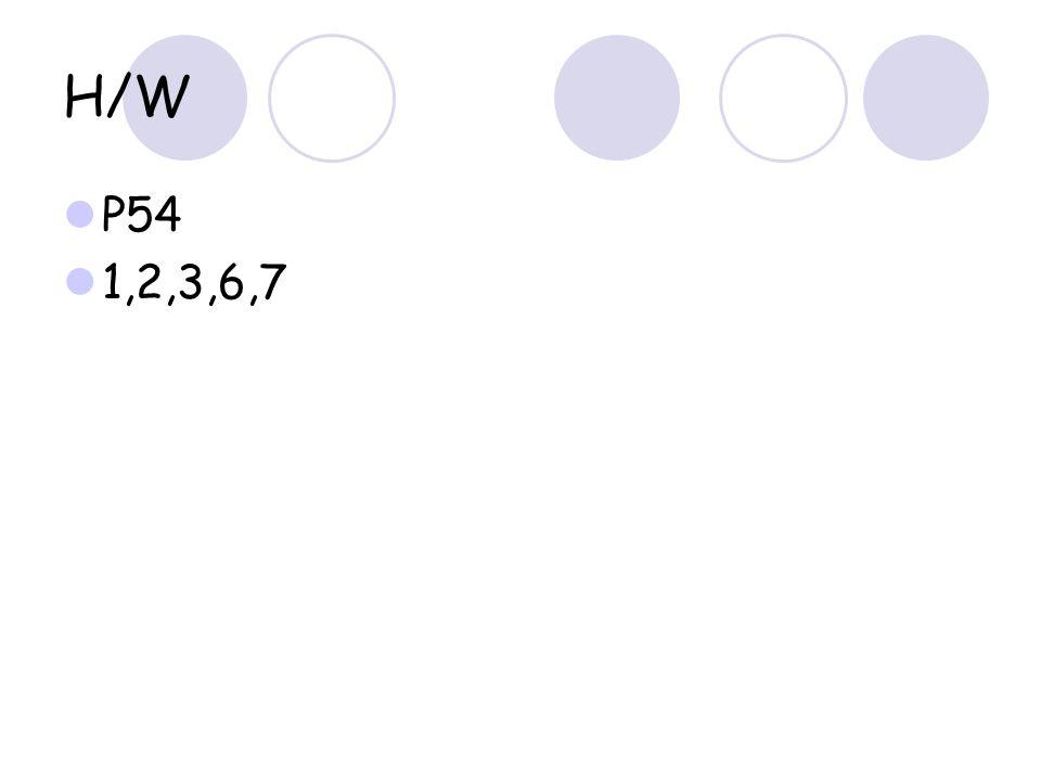H/W P54 1,2,3,6,7