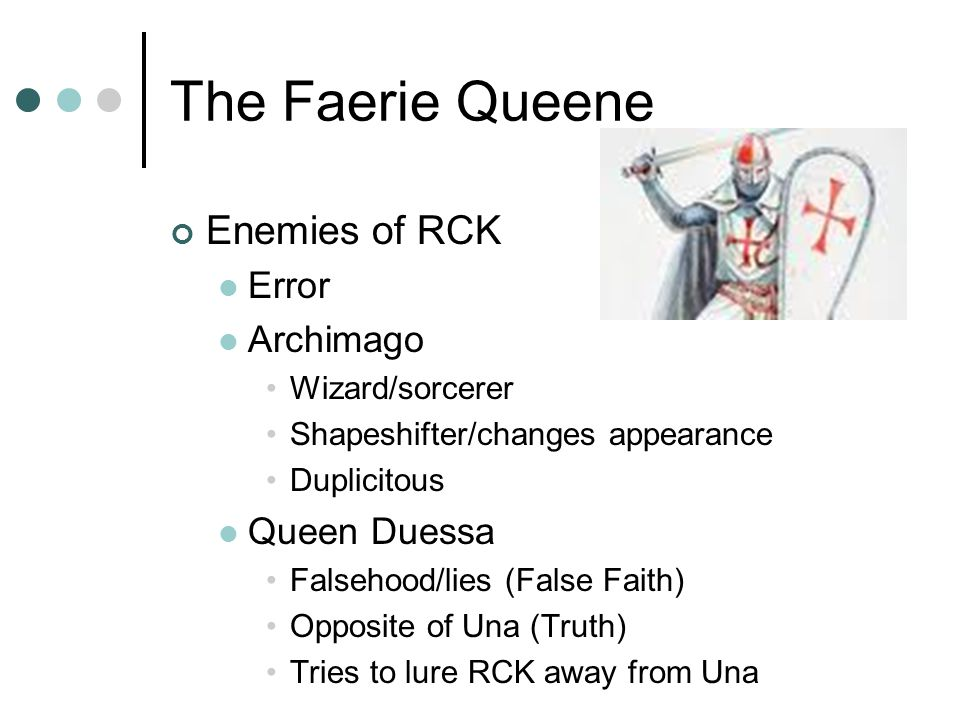 The Faerie Queene Enemies of RCK Error Archimago Queen Duessa