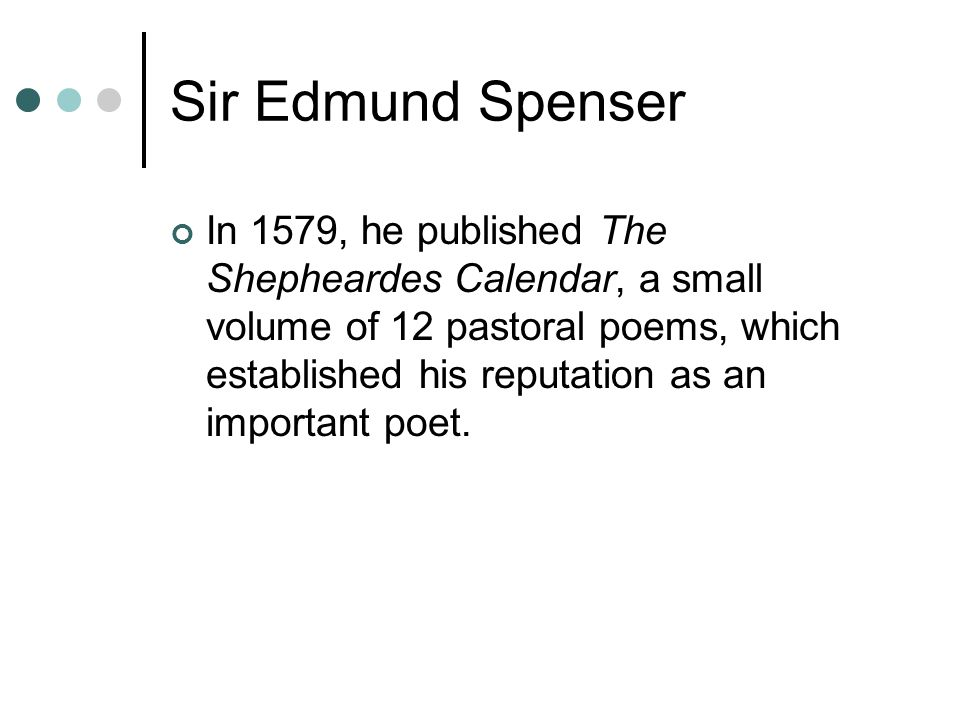 Sir Edmund Spenser